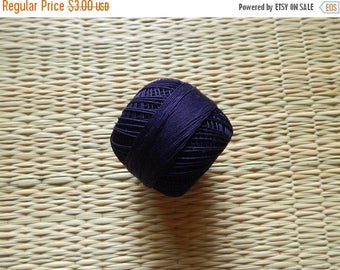 10% OFF Navy Blue Crochet Yarn, Mercerized Cotton Yarn, Knitting Yarn, Embroidery Yarn, Cotton Crochet Yarn - 120 Yards