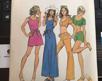 Vintage 70s Simplicity 5029 Separates Pattern-Size 10 (32 1/2-25-34 1/2)