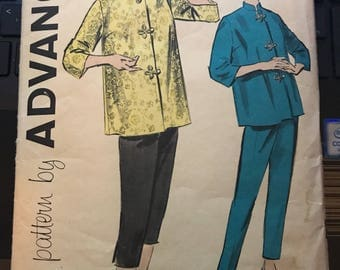 Vintage 50s Advance 9200 Asian Inspired Separates-Size 12 (32-25-34)