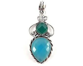 Blue Chalcedony pendant-Aqua Chalcedony Pendant