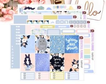 Bunny Hop Vertical Weekly Kit - Planner Stickers, for use in ERIN CONDREN LIFEPLANNER ™, Happy Planner, Vertical Inserts.