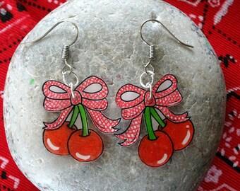 eat a cherry earrings