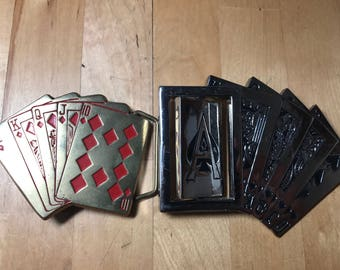 bBb baron  solid  brass and Westside Ca metal belt buckles. From 80s very good condition .