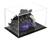 """Versatile Acrylic Display Case, Cube, Dust Cover and Riser 12"""" x 8.25"""" x 7.25"""" (A018-DS)"""