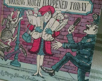 Vintage Storybook 'Nothing Much Happened Today'