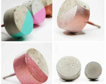 Concrete Round Cabinet Knob Natural Grey or a variety of colours