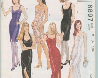McCall's Pattern 6897 - Misses Dress in Two Lengths  (size 14, 16, 18)