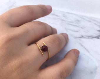 Handmade wire ring, stocking stuffer, christmas gift, stacking ring,