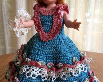 Doll With Hand Crocheted Dress