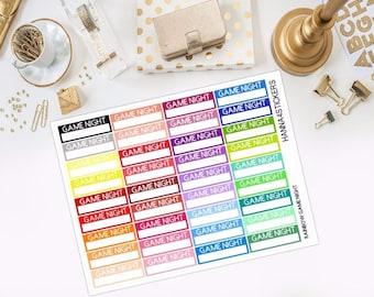 Rainbow Game Night Stickers