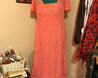 Electric Love vintage-look rose gold dress