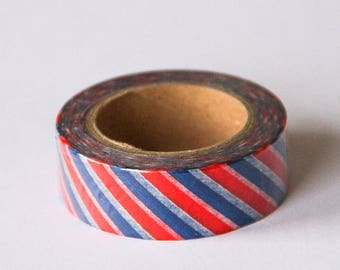 Washi tape - red white blue stripes