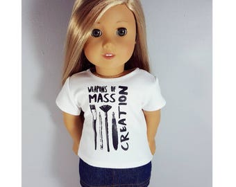 18 inch doll clothes - mass creation t shirt