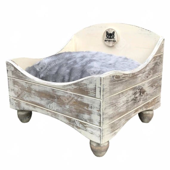 Cat Bed Floor Bed Pet Bed Shabby Chic Rustic Bed Cat Lounger