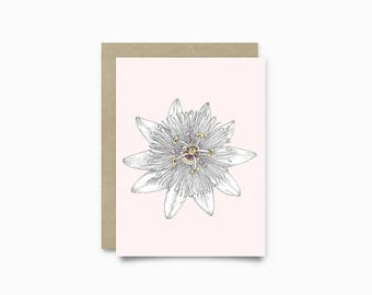 Greeting card - Passiflora