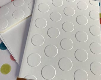 Dot Cards~Lego Cards~Dot Note Cards~Dot Tags~Embossed Dot Notes~Dot Gift Tags~Note Cards~Tags~Dot~Lego~Circle~Thank You