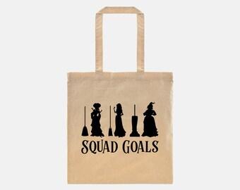 Hocus Pocus Movie | Squad Goals | Sanderson Sisters | Winifred Sanderson | Hocus Pocus Costume | Squad Goals Hocus Pocus | Canvas Tote