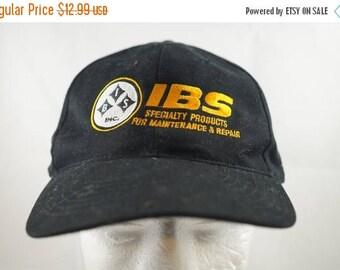 True Vintage IBS Black Strapback Adjustable Dad Hat Freeform Ugly 1990s Trucker Specialist Cap
