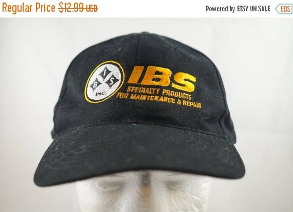 e1152a90ed2 True Vintage IBS Black Strapback Adjustable Dad Hat Freeform Ugly 1990s  Trucker Specialist Cap