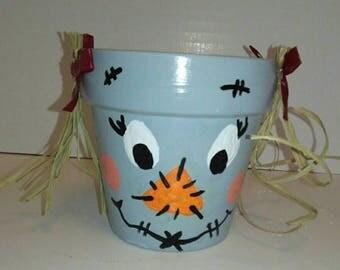 Girl Scarecrow Pot