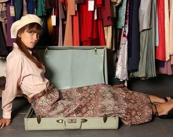 Vintage Brocade Maxi Skirt