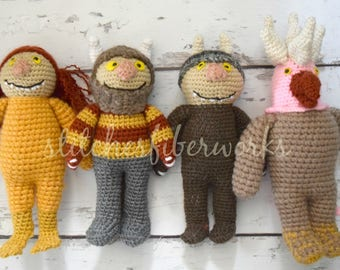 Where the Wild Things Are, Crochet Where the Wild Things Are Beasts, Crochet Beasts, Where the Wild Things Are Stuffed Toy