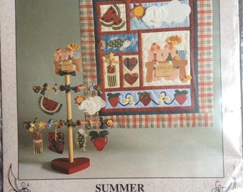 Seasons of the Heart  Summer wall quilt and tree pattern