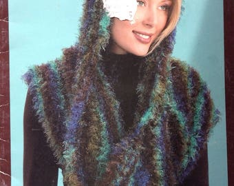 Fabulous fur Patons designer series knitting pattern booklet