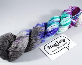 Hand Dyed Sock Yarn Superwash Merino - Urban Pixie