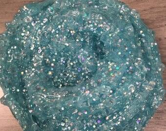Blue holographic crunchy slime