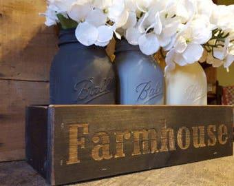 Farmhouse Decor, Mason Jar Centerpiece , Rustic  Centerpiece,  Mason Jar Decor, Rustic Mason Jar Decor