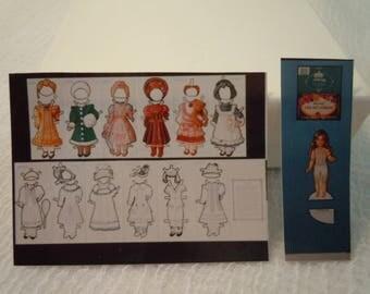 Miniature Paper Doll Cut-outs ~ Dollhouse Miniatures ~ Fairy garden ~ Paper Dolls ~ Miniature Accessories ~ Doll Cut-outs