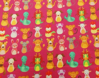 """Magenta Fabric, Unique Print, Home Decor Fabric, Quilt Material, Dress Fabric, 45"""" Inch Cotton Fabric By The Yard ZBC8334B"""