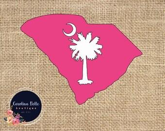 South Carolina Palmetto Decal / SC Sticker / Palmetto Decal