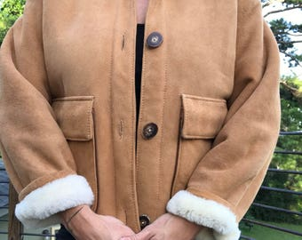 Vintage sheepskin coat/Overland co/Small