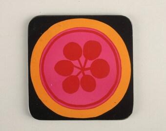 6 Vintage Pimpernel Coasters Retro 60 years
