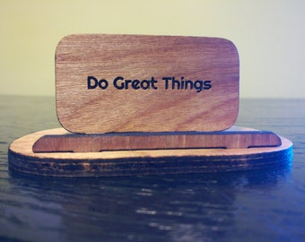 Wooden Phone Stand or Business Card Holder