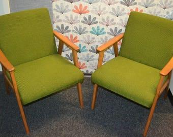 2 armrests vintage Chair 50s