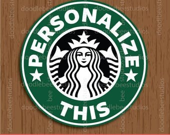 Starbucks Label Printables, Personalized Starbucks Labels, Starbucks Tags, Coffee Labels, Starbucks Labels, Starbucks Favor Tags