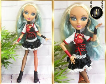 "Monster doll dress ""Harley's style"" high fashion clothes"