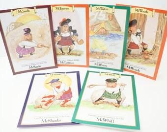Golf Card/Funny/Vintage Golf Card/Golf Greeting Card/Gremlins Of Golf/Robert Perrizo/Funny Gold Card/Vintage Greeting Card/Golf/Humorous
