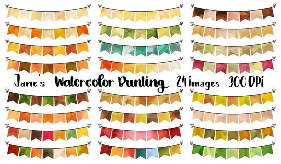 Basket Making Supplies San Diego : Autumn bunting clipart watercolor fall download