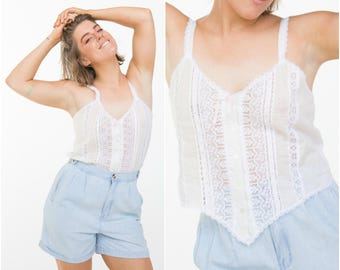 Miss Dior Lingerie Top / 1980s Camisole / Size M