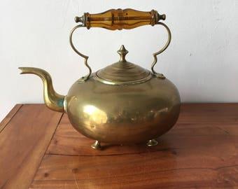 Vintage Brass Toddy Teapot Kettle