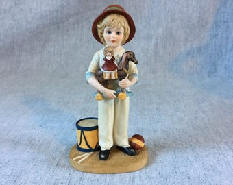 Vintage Jan Hagara Limited Edition Figurine, Jody and the Toy Horse 1983 - 1984