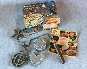Vintage Double Rosette and Timbale Molds, Set of 4, Nordic Ware