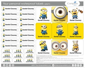 Minions - Your personal waterproof labels (68 Qty) Free Shipping