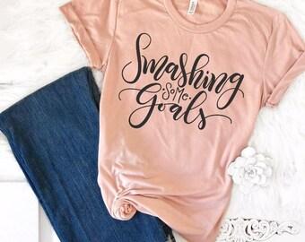 Happy New Year Shirts, Goals TShirt, Goals Shirt, Motivational Tee, Boss Babe T-shirt, Boss Lady, Mom Boss, Goal Digger, Gifts for Her, 2018