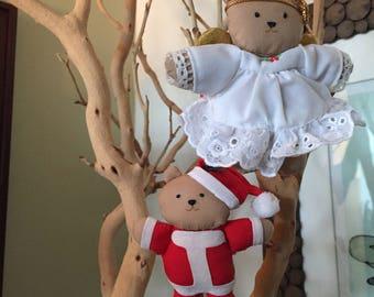 Adorable Vintage Teddy Bear Ornament