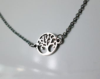 Tree of Life Necklace, Scottish Necklace, Celtic Necklace, Floating Necklace, Stainless Steel Chain, Simple Necklace